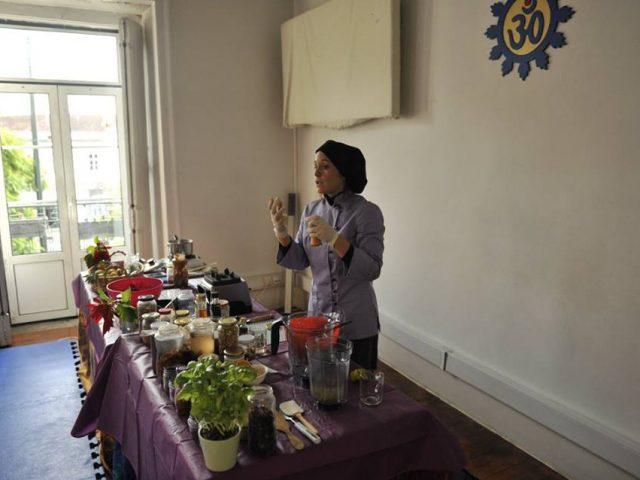 Aula de refeições práticas e saudáveis para o dia-a-dia