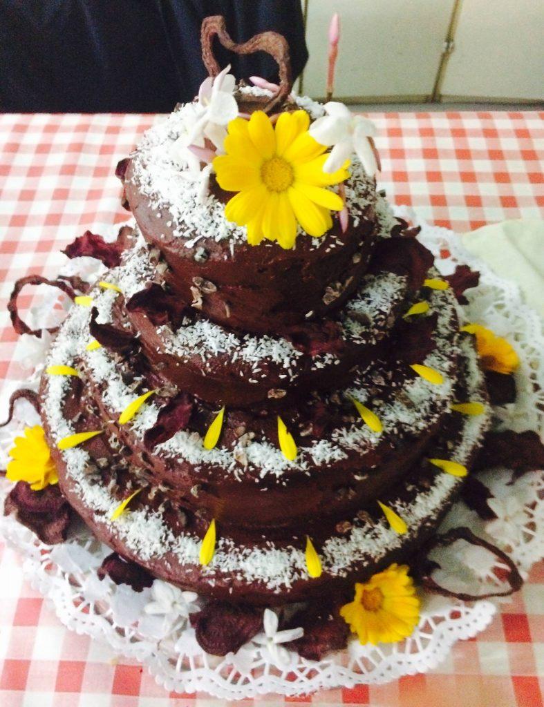 Bolo Aniversário de Chocolate e Beterraba